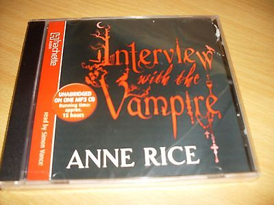Audio Book  :  Anne Rice - Interview With the Vampire ( Unabridged on MP3 CD)