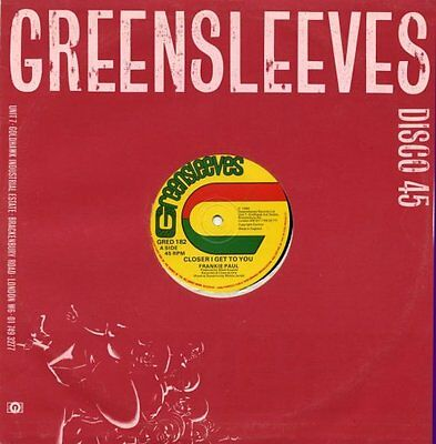 """Frankie Paul General Trees Closer I Get To You 12"""""""