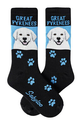 Great Pyrenees Crew Socks Unisex Egyptian