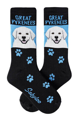 Great Pyrenees Socks Lightweight Cotton Crew Stretch Egyptian