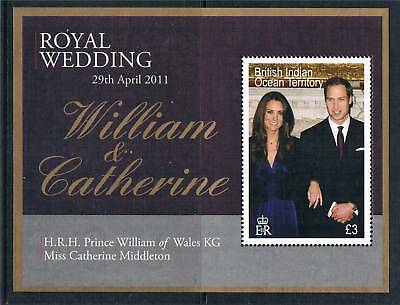British Indian Ocean Territory 2011 Royal Wedding 1v MS SG 459 MNH