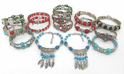 Job Lot of 15 New Tibetan Style Bracelets - Car Boot / Market