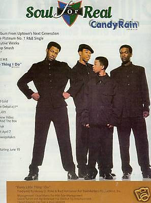 SOUL FOR REAL 1995 Photo Promo Ad for CANDY RAIN mint!