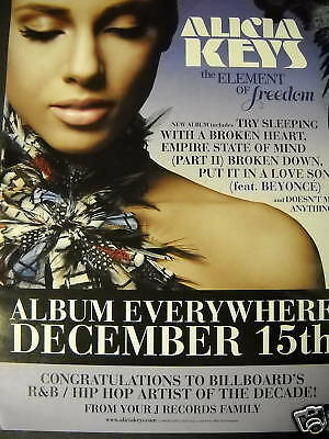 ALICIA KEYS Everywhere December 15th PROMO POSTER AD