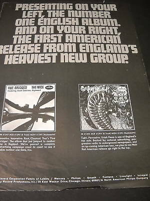 URIAH HEEP and THE NICE 1970 Promo Poster Ad HEAVY NEW