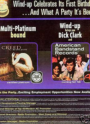 CREED and DICK CLARK 1998 Birthday Style PROMO AD