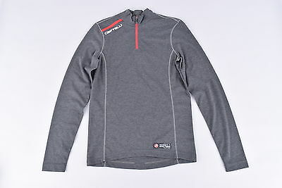NEW Castelli Dolomite LS Zip Neck Base Layer | Men's Small | Long Sleeve