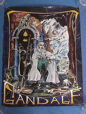 RARE VINTAGE c1969 JRR TOLKEIN LORD OF THE RINGS HOBBIT GANDALF WIZARD POSTER