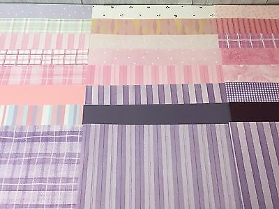 "44 Piece 12"" by 12"" Little Baby Girl Pink Purple Acid-free Scrapbooking Sheets"