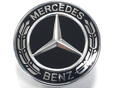 Mercedes bonnet star flat badge design ml class 164 166 for Mercedes benz bonnet badge