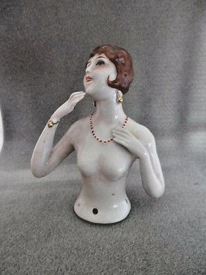 Antique Flapper Half Doll Arms Out Vintage Germany Pincushion