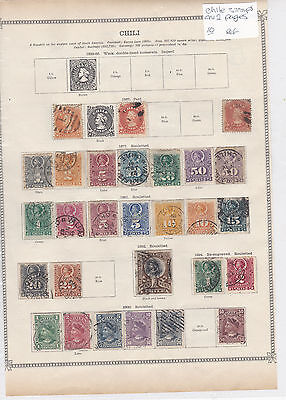Chile Stamps on 2 Pages Ref: R6889