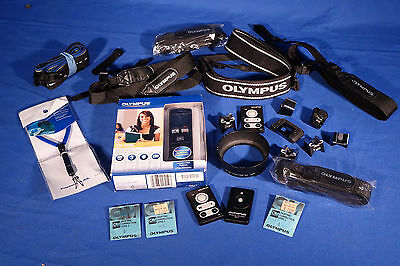 LOT of Various Olympus Straps, Remotes, Flash Hot Shoe Adapter, Etc. #L173EW