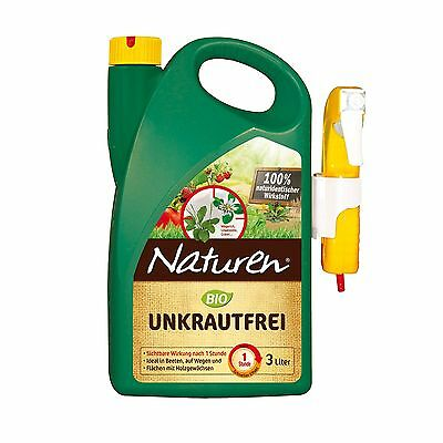Naturen Organic Weed Free - 3 Litre - Weed Control Weed Killer Weed