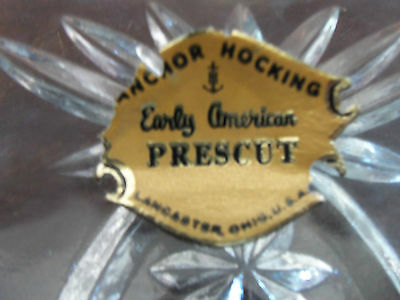 2 Pieces Anchor Hocking Early American Prescut-EAPC-Vintage-Never Used-Pretty