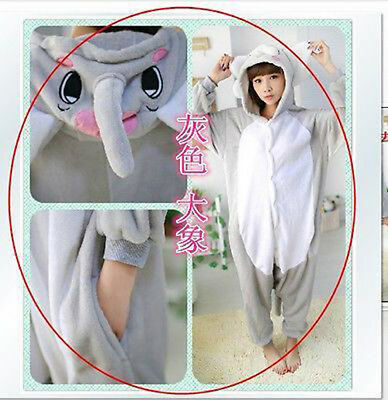 HOT  Elephant Kigurumi Pajamas Animal Cosplay Costume Unisex Adult  Sleepwear