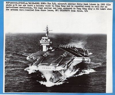 1969 Carrier CVA-63 USS Kitty Hawk Original Press Telephoto