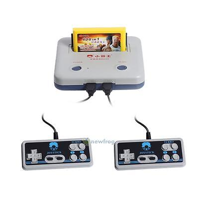 Retro Classic Game Console TV 8-Bit Built-in 400 Childhood Games w/2 Controllers
