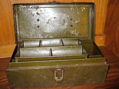 Antique Falls City Metal Document / Cash Box