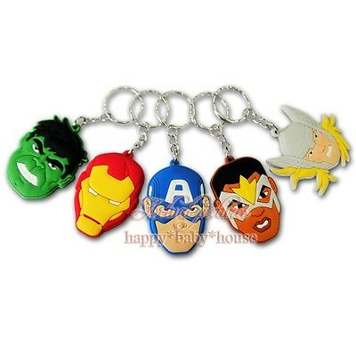 10pcs Super Hero Avengers PVC Keychain Pendant Kids Party Gifts kids best love
