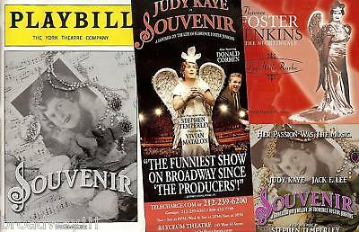 "Judy Kaye as FLORENCE FOSTER JENKINS in ""SOUVENIR"" 2004 Playbill, Flyer (New) CD"