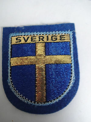 Country Of Sweden Souvenir Patch