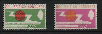 British Honduras 1965 Centenary of ITU SG222/3 MNH