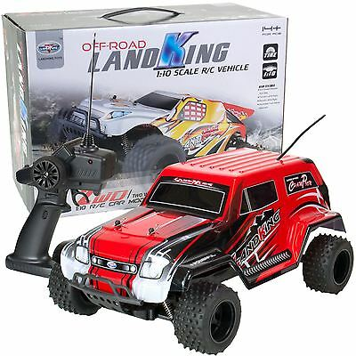 LandKing Radio Remote Control Off Road Racing RC Car Monster Buggy Truck - RED