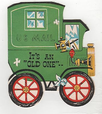 vintage Sangamon Happy Birthday Greeting Card Delivery Truck It's An Old One