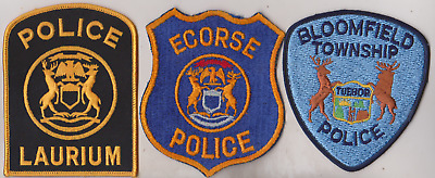 Bloomfield Township & Laurium MI Police patches