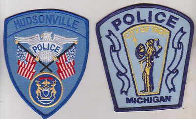 Hudsonville & City of Troy MI Police patches