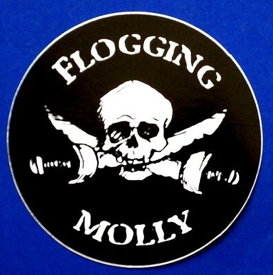 FLOGGING MOLLY skull and swords STICKER **Free Shipping** decal window  punk