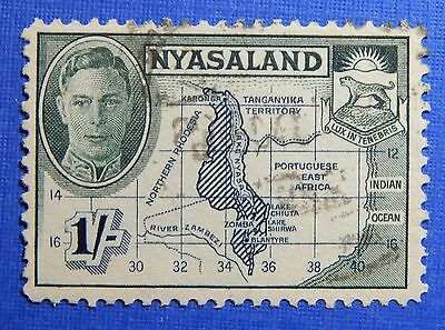 1945 Nyasaland 1S Scott# 76 S.g.# 152 Used                               Cs20967