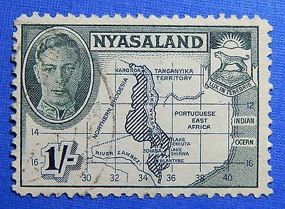 1945 Nyasaland 1S Scott# 76 S.g.# 152 Used                               Cs20969