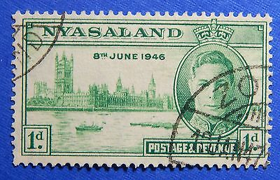 1946 NYASALAND 1d SCOTT# 82 S.G.# 158 USED                               CS20971