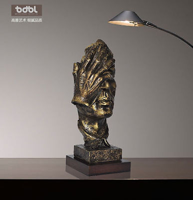 13.7 inches Face Sculpture Statue Abstract Modern Art Deco & free shipping