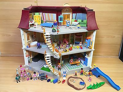 Playmobil 5302 Large Grand Mansion Hotel Dolls House Fully Furnished Bundle