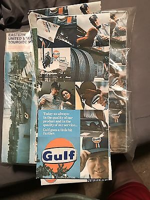 Vintage 1977 Gulf Gas Stations Eastern United States Tourguide Road Map Mint!!!