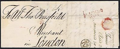 Norfolk PH 1741 Yarmouth to London Fine 23/IV Bishopmark with contents