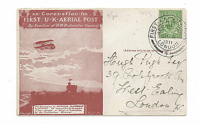 GB.1911. 1st. Aerial Mail 1st.Day.