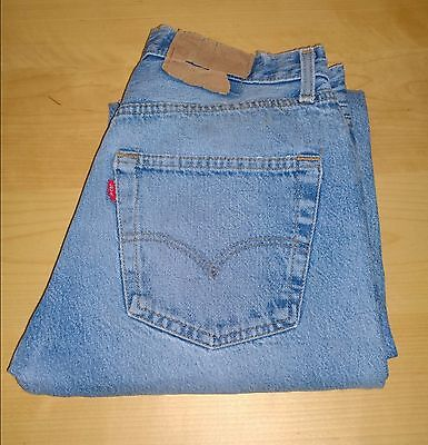 Vintage Levi 501 W30 L33 Denim Jeans Red Tab Blue Straight Leg Button Fly