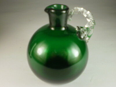 Vintage Green Glass Small Ewer