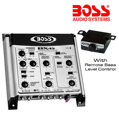 Boss Audio 2/3-way Pre-Amp Electronic Crossover + Remote Subwoofer Control BX45