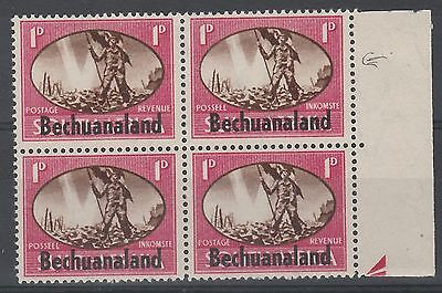 Bechuanaland 1945 Victory 1D Variety Barbed Wire Stamps Mnh **