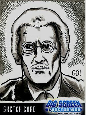 Doctor Who Big Screen Additions Sketch Card By Gary Ochiltree Ultra Rare