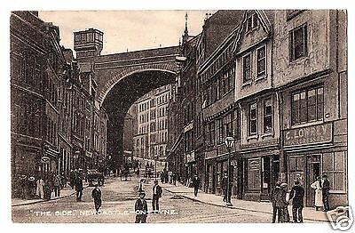 "HST Early Postcard, ""The Side"", Newcastle-on-Tyne, Northumberland"
