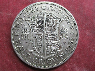 1933 Half-Crown, King George V, 50% Silver, Collectable Condition.