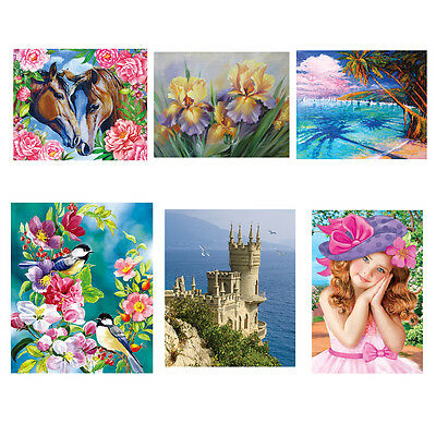 5D DIY Diamond Painting Embroidery Cross Crafts Stitch Kit Home Room Wall Decor