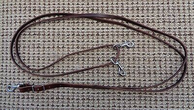 BUTTER SOFT Leather DRAW REINS w Snaps ~ Horse Training / Collection