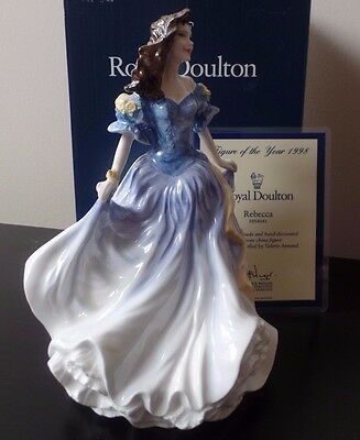 Royal Doulton  Figure Of The Year 1998  - Rebecca - Hn4041 -   Boxed & Cert